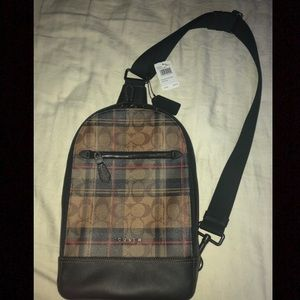 Coach Graham Sling Pack In Plaid F83006